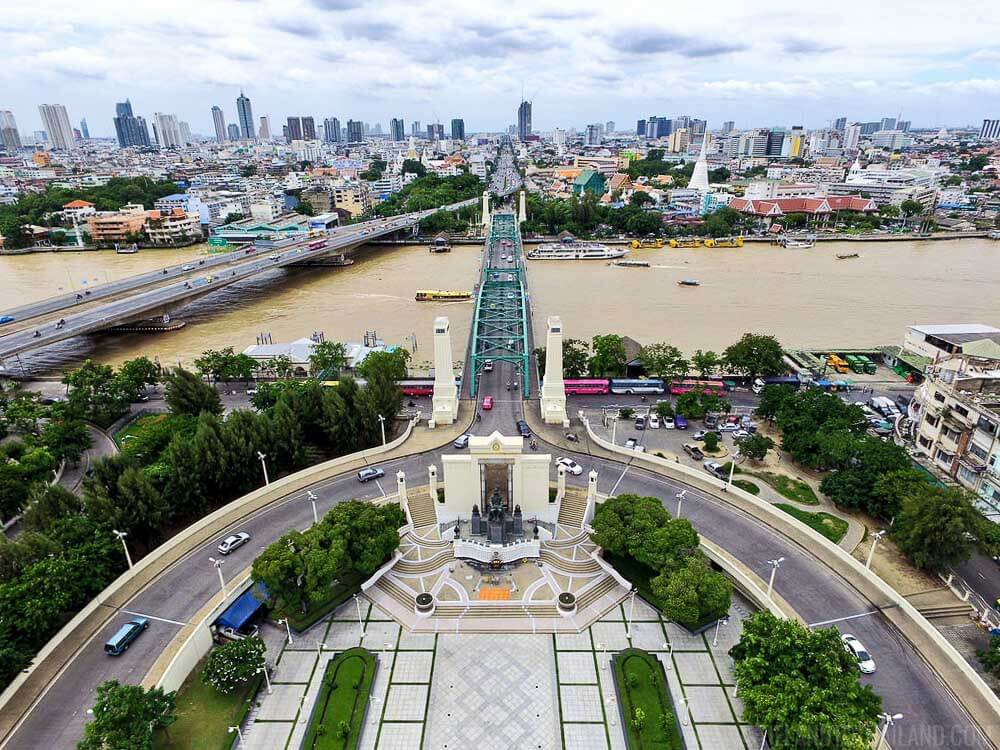 A Day in Bangkok: Sightsee the Chao Phraya River, Memorial Bridge, and King Rama I Monument