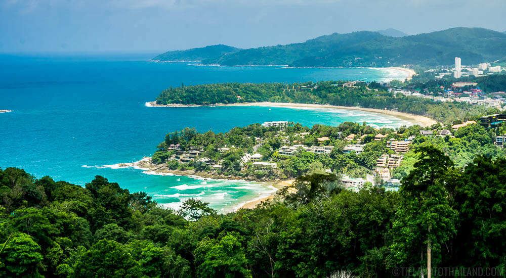 Karon Viewpoint overlooking Kata Noi, Kata Yai, and Karon Beaches