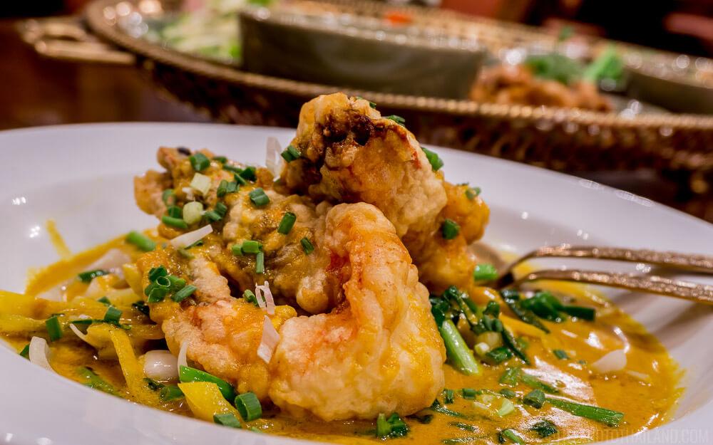 Upscale Thai dining at the Royal Orchid Sheraton's Thara Thong restaurant