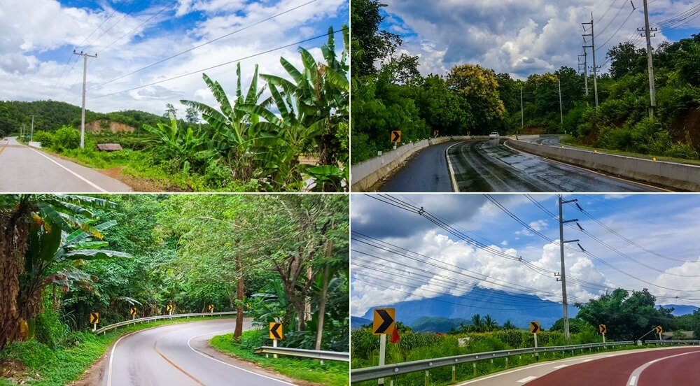 Great scenery in Chiang Mai's countryside along the Samoeng Loop