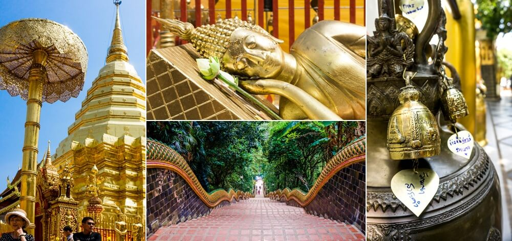 Include this Chiang Mai day trip to Wat Phrathat Doi Suthep if you love temples.
