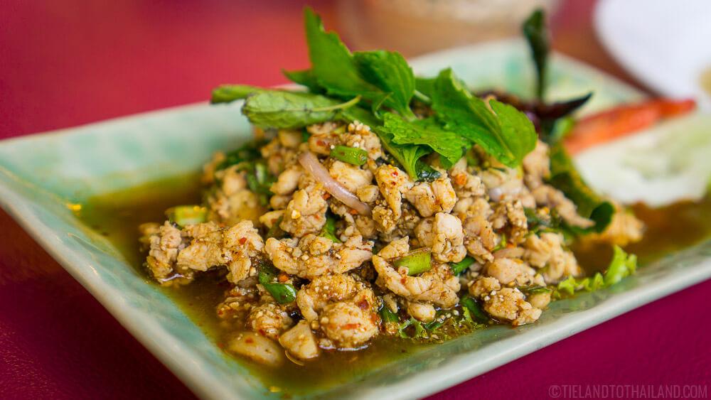 Classic Isaan Thai Food: Chicken Laab - Laab Gai