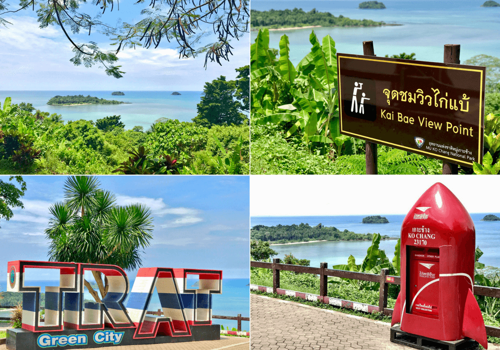 One of the more popular things to do in Koh Chang is to visit the Kai Bae Viewpoint