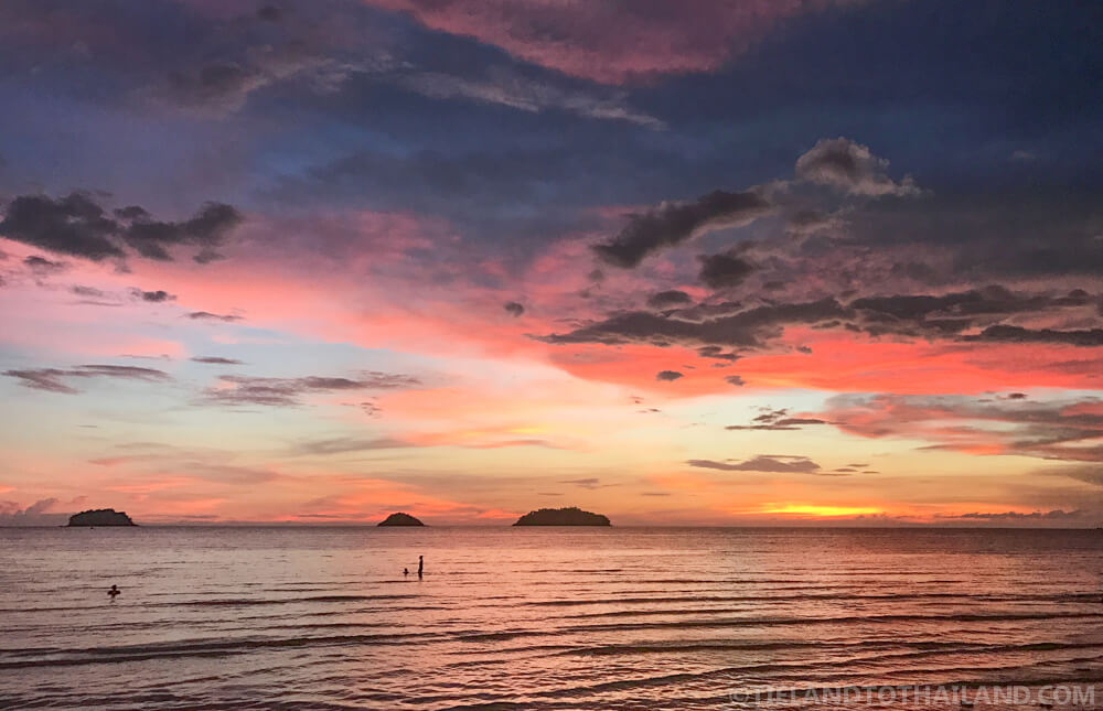 Catch the sunset on Koh Chang's Kai Bae Beach