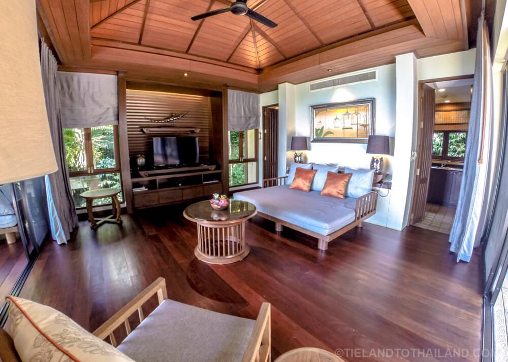 Pimalai Pool Villa Living Room & Kitchen