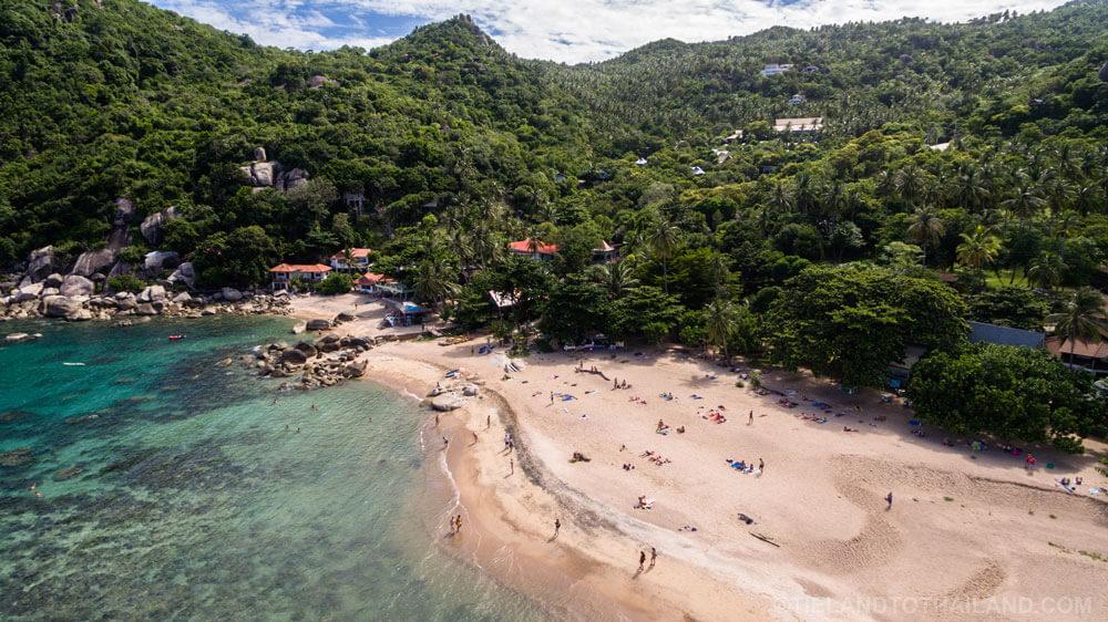 Drone Tanote Bay Beach Koh Tao, Thailand