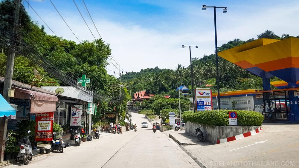 Roads Koh Tao Thailand