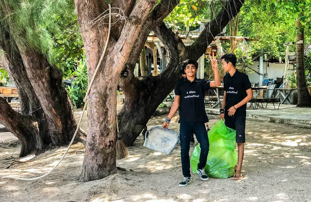 Sairee Beach clean up on Koh Tao, Thailand