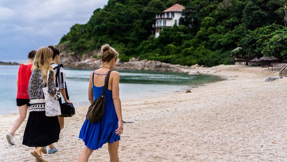Young Women Beach Koh Tao Thailand