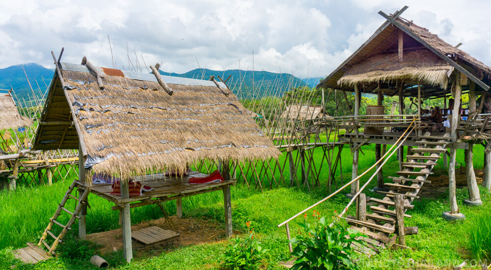 Ban Tai Lue Cafe Stilted Salas in Nan, Thailand