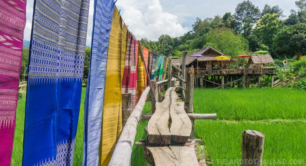 Woven Fabrics Tai Lue style in Pua District, Nan Thailand