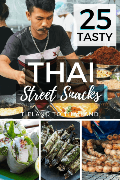 Exploring Thailand wouldn't be complete without grazing on Thai street snacks from the country's ubiquitous street stalls. But for some people this can be overwhelming, so here's a finger food guide for treats that are less than a dollar and can be nibbled on while you're walking around. | Tieland to Thailand