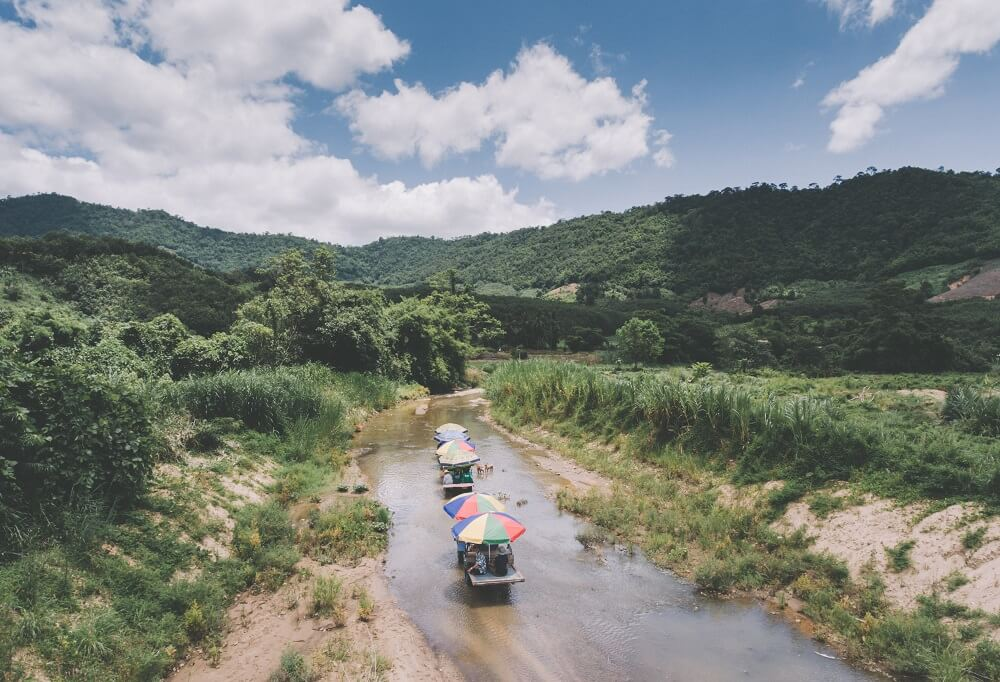 One Night Stay with Locals tour: Tractor ride at Baan Khiri Wong Kot in Udon Thani