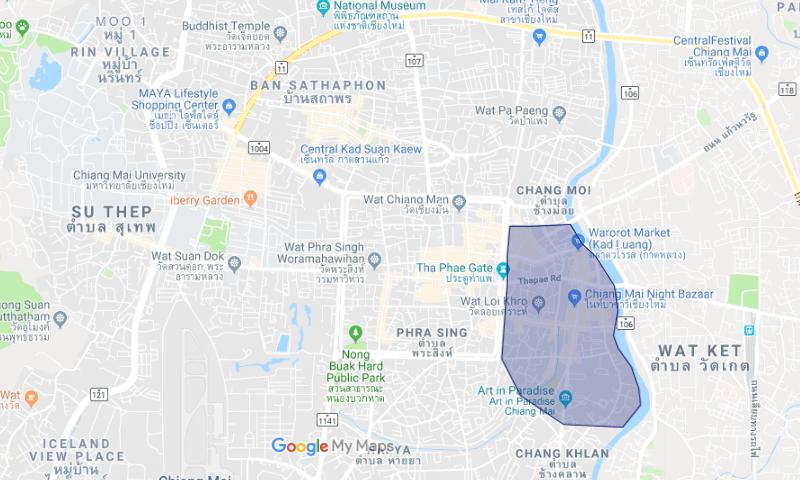Shopping Neighborhood: Night Bazaar and Thapae Gate in Chiang Mai