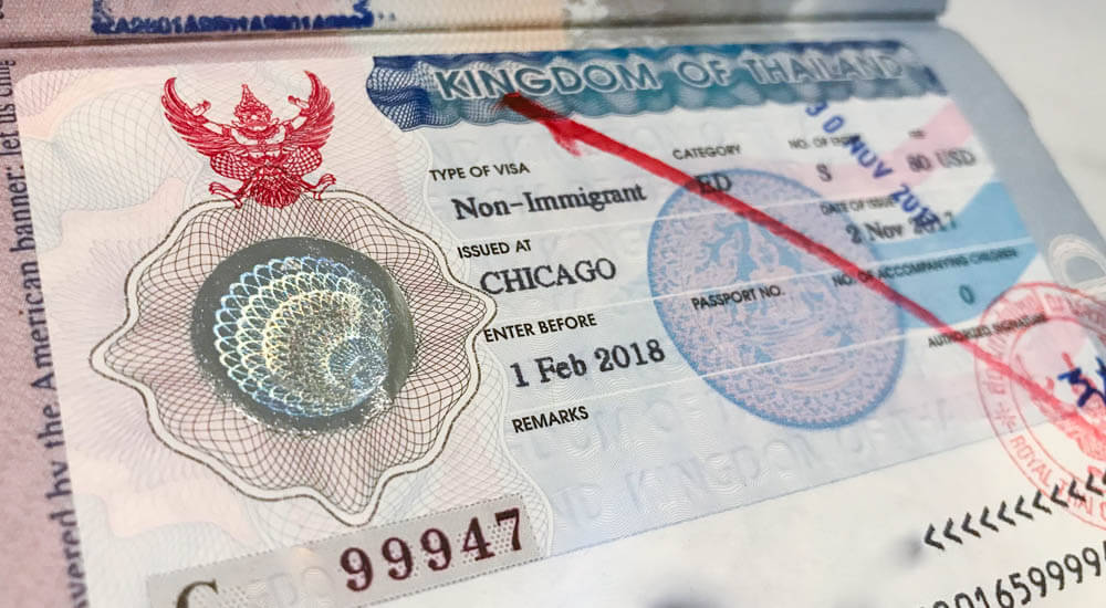 Cost of Non Immigrant Thai Visa