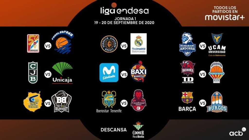 Calendario ACB Temporada 2020/21