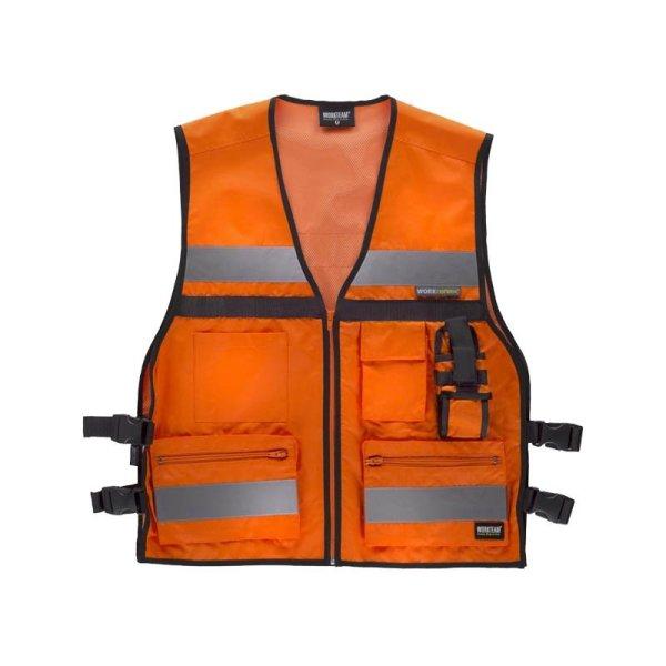 Chaleco Workteam Alta Visibilidad C3601 naranja