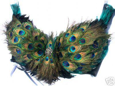 Peacock bra