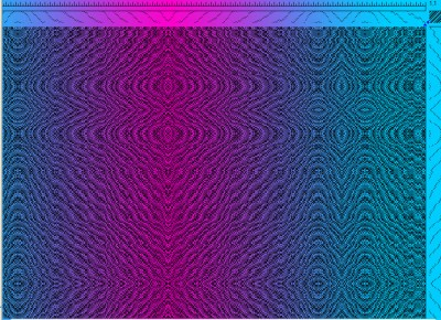 Color simulation with black weft