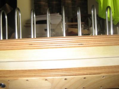 closeup of sectional beam