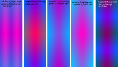 Various color gradients tested in Photoshop