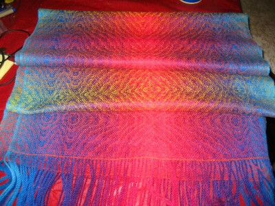 Shawl, in loose folds