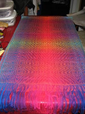 Half the shawl
