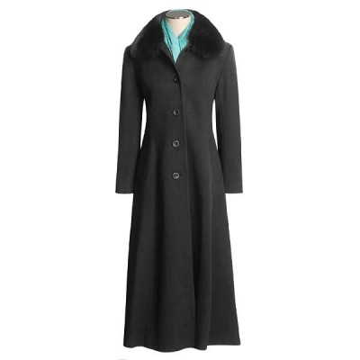 A commercial lambswool/fox fur coat