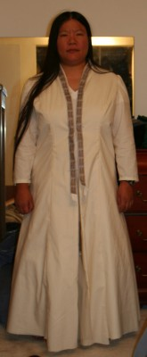 Bridal coat with crinoline