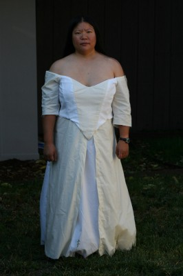 Muslin for wedding-dress