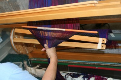 Transferring the cross: moving the lease sticks right up behind the reed