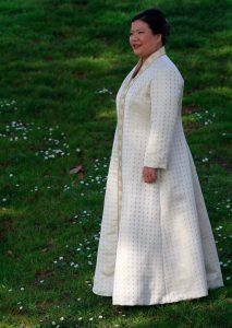 handwoven wedding dress, wedding coat