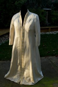 "Handwoven wedding dress, coat portion - ""Eternal Love"""