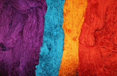 dyed yarns for four-color doubleweave