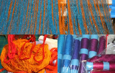 warp and weft colors for the doubleweave shawl
