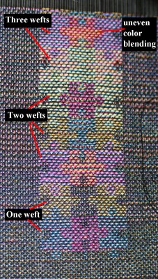 photo of puzzle-piece handwoven taquete sampler