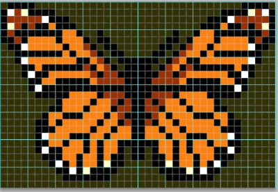 monarch butterfly pattern for taquete