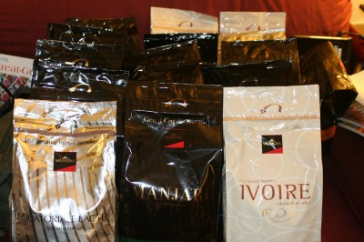 100 pounds of Valrhona chocolate
