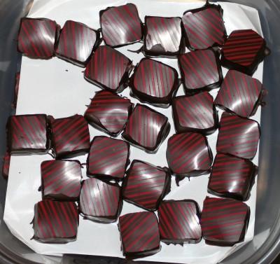 Boysenberry with lemon-orange marmalade chocolates
