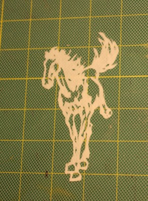 "Horse stencil, from the Dover book, ""Chinese Cut-Paper Designs"""