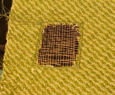 1st devore experiment on tencel warp
