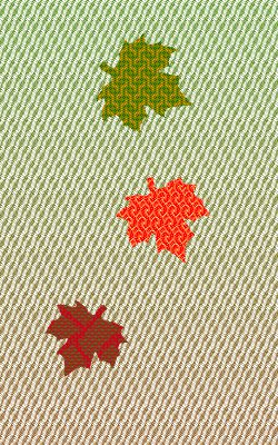 fabric simulation, green to brown color gradient