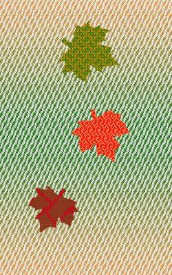 leaf simulation, saturated colors