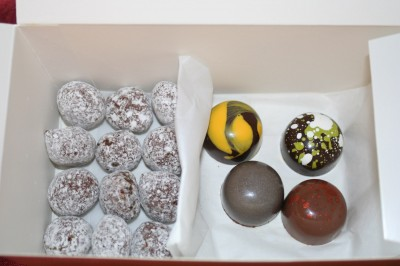 A box of mignardises from The French Laundry