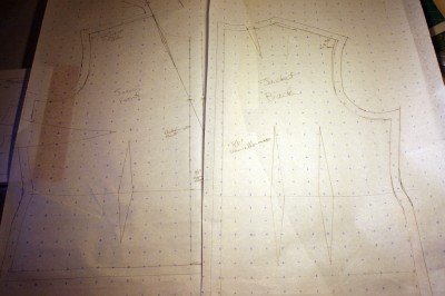 drafted pattern for the jacket