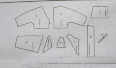 pattern pieces for jacket