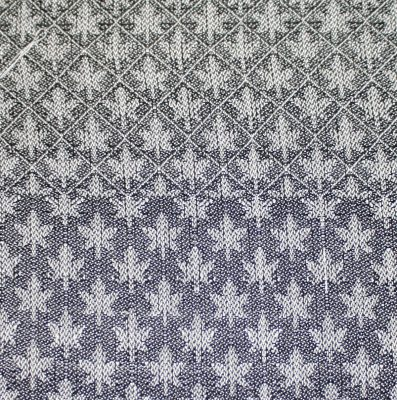 maple leaf pattern, in handwoven fabric