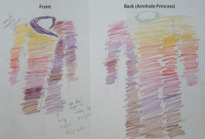 unused design - armhole princess in back