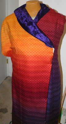 computer drafted muslin - - blue-purple collar