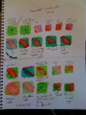 Exploring watercolor pencil techniques